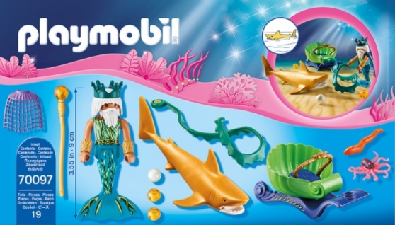 Playmobil Magic Meereskönig Triton mit Haikutsche Spielset 70097
