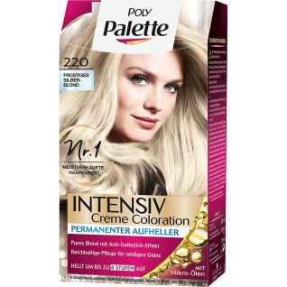 POLY PALETTE Intensiv Creme Coloration 220 Frostiges Silberblond 115Ml Stufe 3