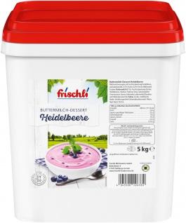 Frischli Buttermilch-Dessert Heidelbeere ein fruchtig-frischen Nachtisch 5000g