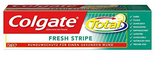 Colgate Total Fresh Stripe Zahnpasta, 6er Pack (6 x 75 ml)