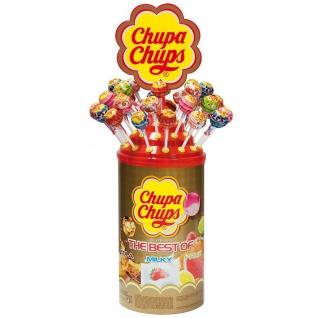 Chupa Chups Original Lutscher sortierter Thekendisplay 100 Stück 1200g
