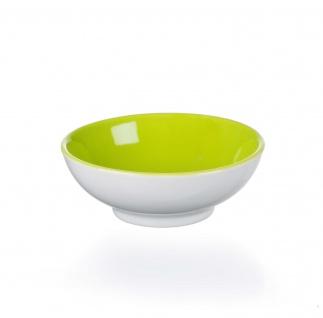 Ritzenhoff und Breker Schale grün Porzellan Serie Doppio flach 10cm