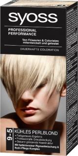 Syoss Professional Performance Coloration 9-5 Kühles Perlblond Stufe 3, 1er Pack (1 Stück)