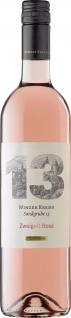 Blauer Zweigelt 13 Rose Schöner und klarer Qualitätswein 750ml