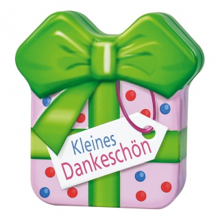 Heidel Schokogeschenk Kleines Dankeschön Metalldose mit Pralinen 32g