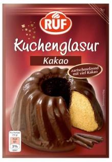 Ruf Kuchenglasur Kakao, 12er Pack (12x 100 g)