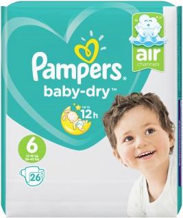 Pampers BABY DRY Windeln Gr.6 Extra Large 13-18kg SP 26ST