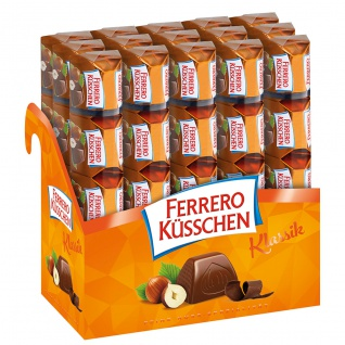 Ferrero Küsschen Nusspralinen mit Halbbitterschokolade 15er Pack