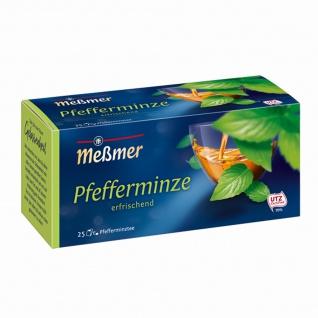Meßmer Pfefferminze frisch würzig Pfefferminz Kräutertee 56g 12er Pack