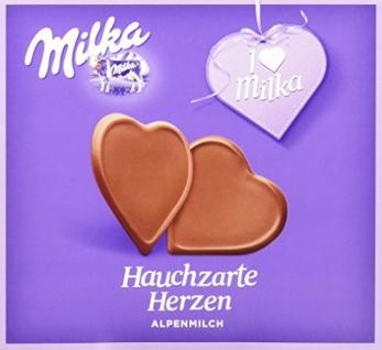 Milka Hauchzarte Herzen Alpenmilch 130g