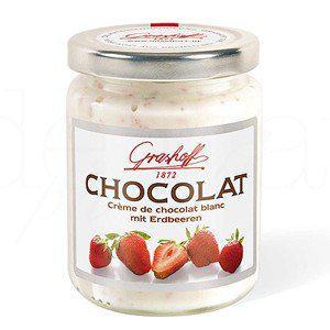 Weiße Schokoladencrème mit Erdbeeren 250g. Grashoff. 6 Stk.