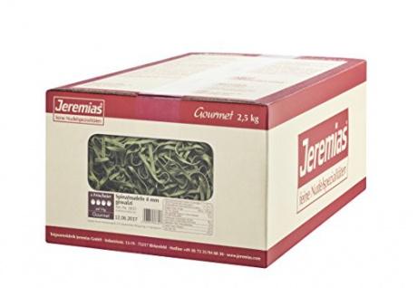 Jeremias Spinatnudeln 4 mm gewalzt, Gourmet Frischei-Festtags-Nudeln, 1er Pack (1 x 2.5 kg Karton)