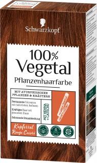 Schwarzkopf 100 Prozent Vegetal Kupferrot pflanzliche Haarfarbe