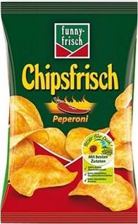 Funny frisch Chipsfrisch Peperoni für Vegetarier geeignet 175g