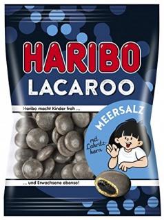 Haribo - Lacaroo Meersalz Lakritz-Dragees intensiv Würzig 125 g