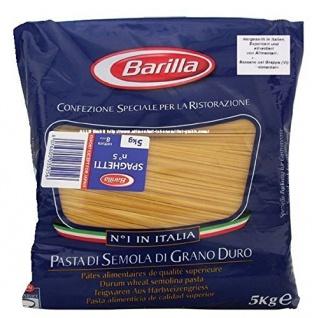 Barilla Spaghetti n. 5, 3er Pack (3 x 5 kg = 15kg) Teigwaren aus Hartweizengrieß