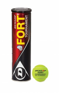Dunlop Tennisbälle Fort Turnament one Size 4 Bälle Farbe Gelb