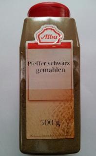 Alba Gewürz Pfeffer schwarz gemahlen mit 2fach Dosier Streuer 500g