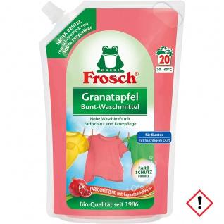Frosch Granatapfel Waschmittel im Umweltbeutel recyclebar 1800ml