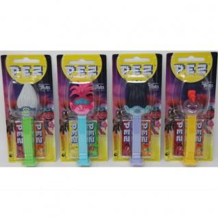 PEZ Trolls 4 verschiedene Spender 2 Päckchen Bonbons 17g 12er Display