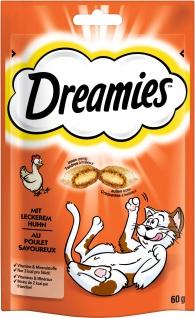 Dreamies mit Huhn für Katzen leckerer Snack im Frischebeutel 60g