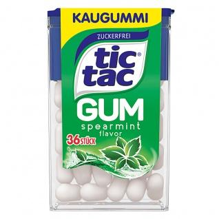 tic tac Gum spearmint Kaugummi mit Minzgeschmack 36 Kaugummis 17g