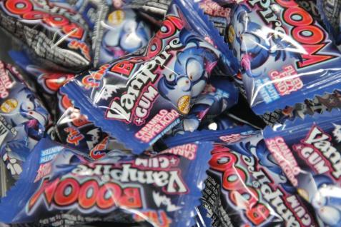 Bubble Gum Boom Vampir Hartkaramelle Kaugummi sauer einzeln 5g
