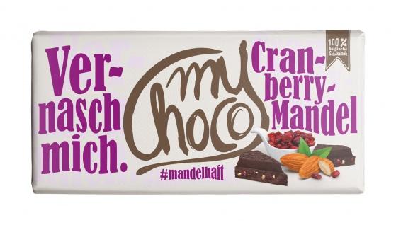 My Choco Cranberry Mandel Schokolade 180g