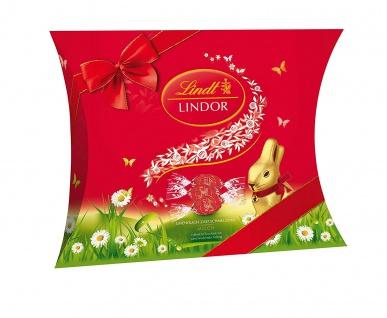 Lindt Lindor Milch Kissenpackung Ostern Vollmilch Schokolade 2er Pack - Vorschau