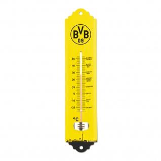 Thermometer Borussia Dortmund für innen und außen mit BVB Logo