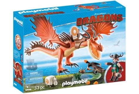 Playmobil Dreamworks Dragons Drachen Rotzbakke und Hakenzahn