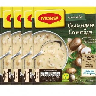 Maggi Für Genießer Champignon Cremesuppe fein und cremig 51g 4er Pack