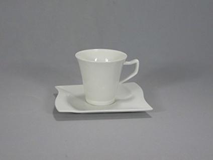 Gerd van Well Harmony Kaffee Untertasse Porzellan weiß eckig 15cm