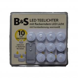 LED Teelichter mit flackernder Flammer Fernbedienung 10er Set