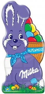 Milka Schmunzelhasen Tafel aus leckerer Alpenmilch-Schokolade 85g