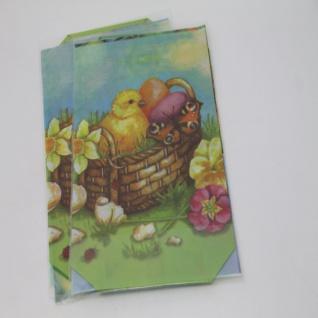 Schmuckbeutel Ostern Motiv Küken Easter Bag mit Boden 145 x 235mm