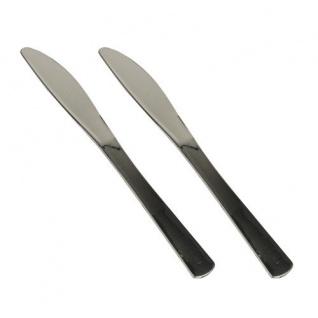 Einweg Plastik Messer Polystyrol 20cm metallisiert Papstar 50 Stück