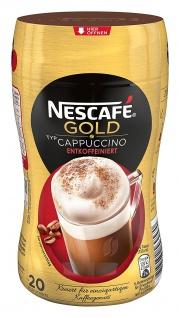 NESCAFÉ Gold Typ Cappuccino Entkoffeiniert, löslicher Bohnenkaffee aus erlesenen Kaffeebohnen, ohne Koffein, mit extra viel Schaum, 5er Pack (5 x 250g)