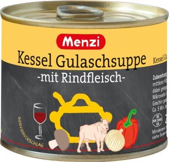Menzi Kesselgulaschsuppe mit Rindfleisch ungarisch 200ml 3er Pack