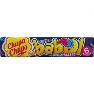 Chupa Chups Big babol Zungenmaler 6 einzel gewickelte Kaugummi 27g