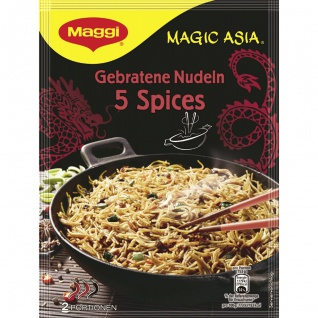 Maggi Magic Asia Gebratene Nudeln 5 Spices für 2 Portionen 128g
