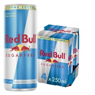 Red Bull Sugarfree koffeinhaltiges Erfrischungsgetränk 250ml 4erPack