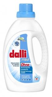 Dalli Med Flüssigwaschmittel 20 Waschladungen ohne Farbstoffe 1100ml