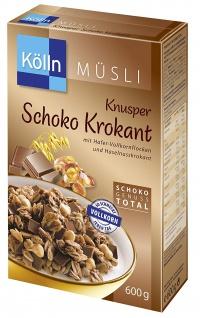 Kölln Knusper Schoko Krokant mit Haselnusskrokant 500g 4er Pack