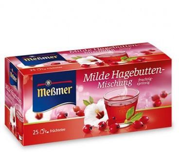 Meßmer Milde Hagebuttenmischung Früchtetee Hibiskus 12er Pack