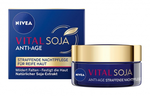 Nivea Gesichtspflege Vital Soja Anti-Age straffende Nachtpflege 50ml