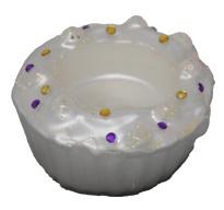 Teelichthalter Kerzenhalter in Form eines Muffins Farbe Weiß