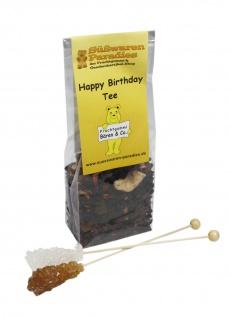 Happy Birthday Tee mit Kandiszucker Kirsch Bananen Geschmack 100g