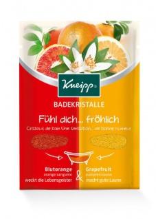 Kneipp Badekristalle Fühl dich fröhlich Blutorange & Grapefruit 60g