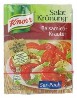 Knorr Salat Krönung Balsamico Kräuter voller Geschmack 5x10g